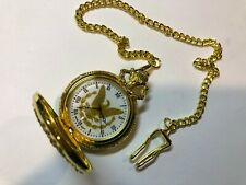 Quartz - Includes Chain - Looks Unused Modern Pocket Watch - Hunter Case -