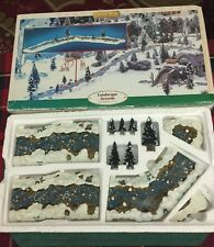 LEMAX 1999 Mill Stream 11 Piece Set VILLAGE COLLECTION Landscape In Original Box