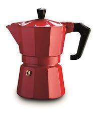 6 CUP Pezzetti MOKA Espresso Coffee Maker Percolator Perculator Stovetop Red