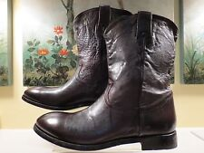 NWB MENS AUTHENTIC PAUL SMITH BROWN LEATHER BOGART ANKLE BOOTS 8.5/42.5