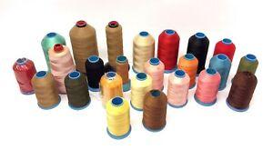 Mixed Used Lot Mason Silk Co CT USA Nylon Stichlok Assorted Color Sewing Thread