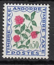 TIMBRE TAXE  ANDORRE FRANCE NEUF  N° 52  *  FLEURS DES CHAMPS