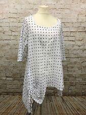 Moonshine Fashion Sommer Tunika Zipfel Lagenlook Übergröße 48 50 52 Neu weiß