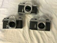 Lot Of 3 Asahi Pentax Spotmatic Cameras 35mm B8