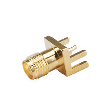 """15pcs SMA Jack Female End Launch PCB Mount wide flange .062"""" Straight Connector"""