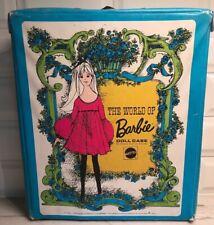 The World Of Barbie Doll Case #1002 Vintage1968 Mattel Blue & Green Case Only