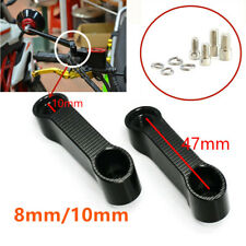 Motorcycle Mirror Mount Riser Extender Adapter 8mm/10mm 6061-T6 Aluminum Black