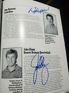 1994 MICHAEL JORDAN GOLF PROGRAM SIGNED BY JOHN ELWAY CHARLES BARKLEY + 41 MORE