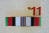 US USA '11 Afghanistan Ribbon Military Hat Lapel Pin