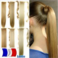 Queue de Cheval Postiche Extensions de Cheveux Wrap Around Ponytail Lisse