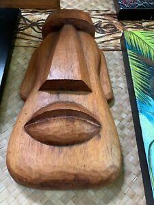 New Doug Horne Fat Moai  Easter Island Tiki Mask by Smokin' Tikis Hawaii fx