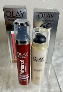 Lot Of 2 Olay Moisturizers Regenerate 30SPF + Total Effects 7IN1 Mature Therapy