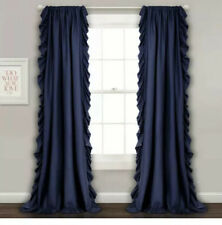 New Lush Decor Reyna Navy Set 54X84 In. Window Curtain