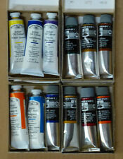 lot of 12 Winsor & Newton (37ml) & Rembrandt (40ml) Oil Paints, never opened