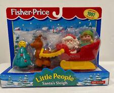 Fisher Price Little People Santa's Sleigh NEW In Box Elf Reindeer Christmas Tree