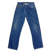 Levi Strauss 501 Classic Mens W31 L32 Straight Leg Blue Button Fly Denim Jeans