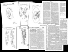 1962 Flying Saucer Design Documents, UFO PATENT, FROST DESIGN Photos-Specs 11pgs