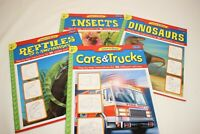 Lot of 4 WALTER FOSTER Learn to Draw Dinosaurs / Cars / Reptiles / Insects