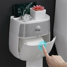 Us Toilet Paper Holder Wall Mounted Paper Modern Toilet Tissue Dispense Storage