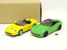 Ixo Presse SB 1/43 - Lot de 2 Ferrari : 550 Barchetta + 599 GTB Verte
