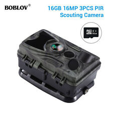 HC801A 16MP 16GB Trail Hunting Night Vision Camera 36pcs LEDs 0.3s Wildlife Cam