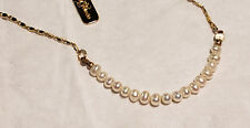 "Pearl 17"" GoldPlated chain Necklace"