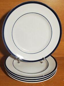 """Williams-Sonoma BRASSERIE BLUE Dinner plate set of 4, 11"""", Porcelain, Very good"""
