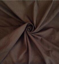 Per metre   Chocolate Brown Soft Cotton Curtain Dress Fabric