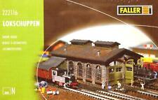 Faller 222116 N - Lokschuppen für Dampflok`s NEU & OvP