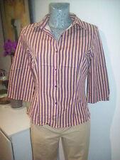 chemisier cintré de marque ZARA taille S 36 38 top haut chemise rayé rayures été