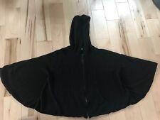 Women Alice + Olivia Black Cape Coat With Hood One Size