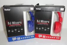 LOT OF 2 Headphones  Vivitar DJ Mixers Foldable Headphones- Compact Edition