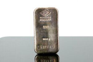 Silberbarren 1kg Degussa Feinsilber 999 Silberbarren 1000g 999,0 Fine Silver #B1