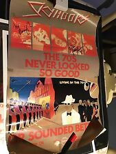 SKYHOOKS Living In The 70's IN STORE POSTER RARE SIGNED