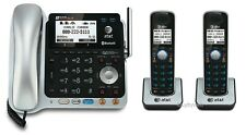 AT&T TL86109 DECT 6.0 Bluetooth 2 Line 1 Corded 2 Cordless Phones w/Answering