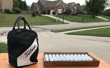 Titleist GOLF Shag Bag Black & White Practice Golf, 50 Titleist Balls. in U.S.A.