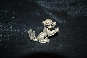 Springender Fô-Hund,Tibet, Silber (925) massiv, 135gr., 58mm