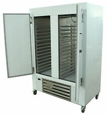 """New Cooltech 48""""W Stainless Steel 2-Door Reach-In Cooler with 3""""H Baker's Rack"""