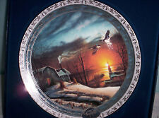 """Terry Redlin 2001 Bradford Exchange Collector Plate  """"Home for the Holidays"""""""