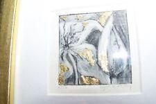 Lynn Kirkley Collagraph Lithograph, Ltd Edition, Flower