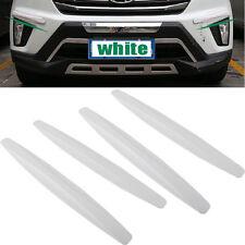 4× Car Bumper Protector Corner Guard Scratch Sticker Carbon Fiber Texture Rubber