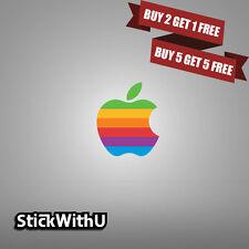 MacBook Decal Retro Apple Logo Sticker Air Pro Retina Vinyl Rainbow 2 10 20 LG01