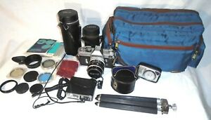 CANON FX 35MM - MANUAL - #327389 – LOT - VINTAGE 1963 COLLECTIBLE - EVC $490