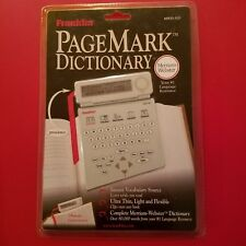 Franklin Mwd-520 Merriam Webster's Dictionary PageMark Edition Brand New
