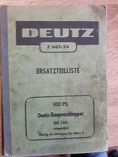 Original Werkstatthandbuch Deutz Ersatzteilliste DK 100