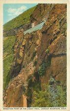 Antique Postcard DB CO J511 Sensation Point Lariat Trail Lookout Mountain Denver