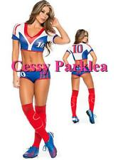 Sexy France Soccer Player Cheerleader World Cup Football Girl Costume