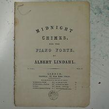 antique salon piano MIDNIGHT CHIMES albert lindahl , 7pp