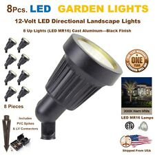 8 PCS LED Landscape Garden Up Lights Yard Lamp Very Bright 5 Watts Each