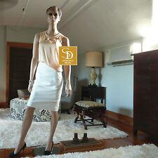 J Crew Ivory No 2 Pencil Skirt in Bi-Stretch Cotton NWT $79.50 Sz 12P     #e9229